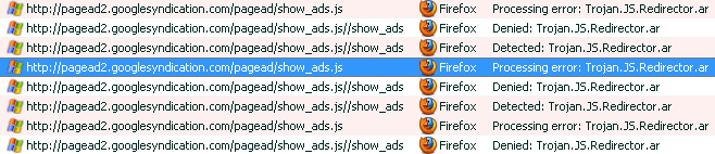 Report points to Adsense file