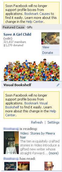 facebook kills profile boxes