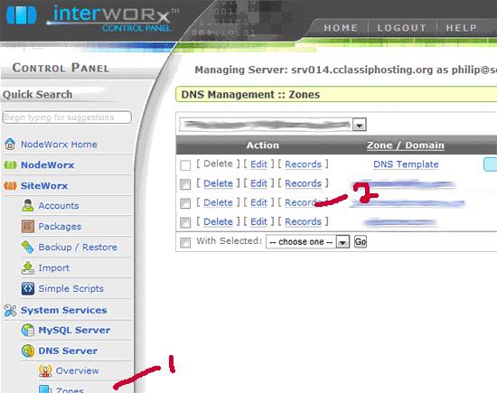 how to create custom nameservers in whm