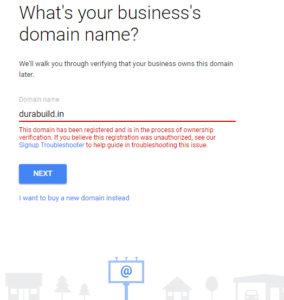 gsuite-error-domain-registered