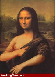 Monalisa in Honor of Breast Cancer Month - Oct 2010 (image credits : freakingnews.com)