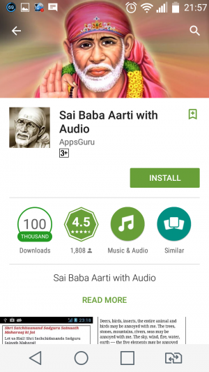 Sai Baba Aarti with Audio - Unsafe