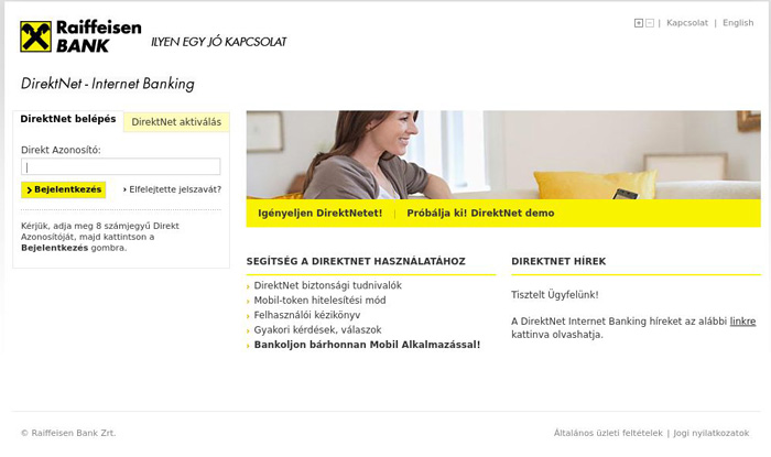Raiffeisen Bank phishing scam by hancing wordpress sites.